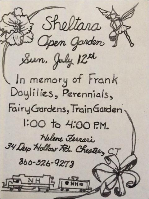 Helene's open garden invitation